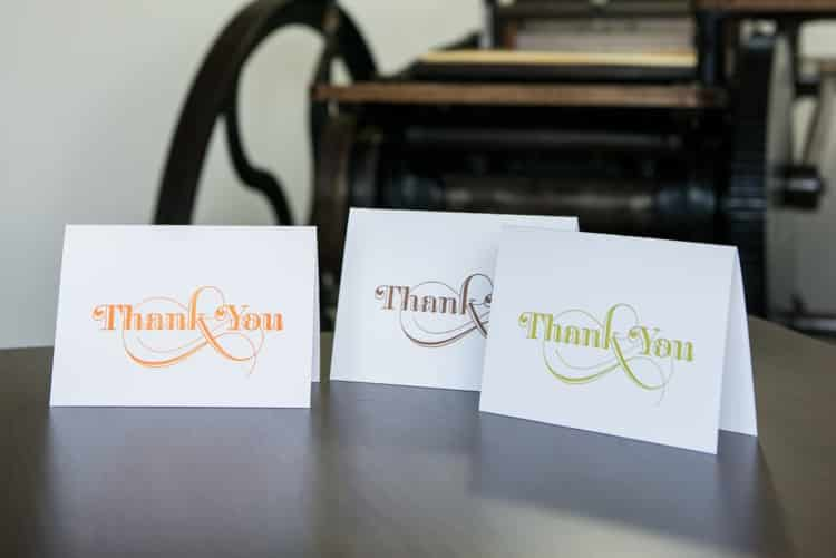 Trio of thank you cards - sq