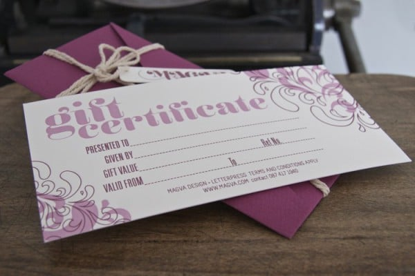 Gift Voucher and Envelope