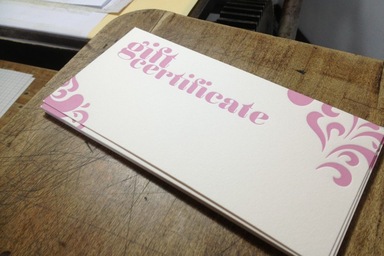 First Letterpress colour