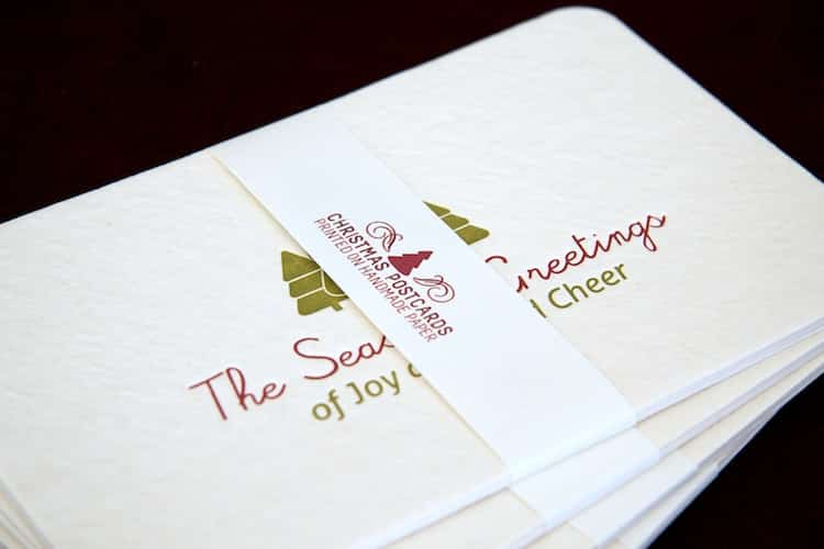 Three christmas cards pack