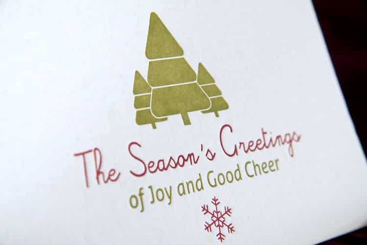 The seasons greetings postcard