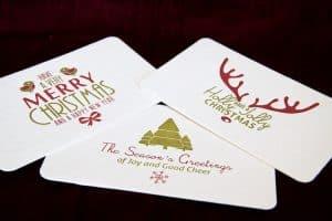 Three festive postcards