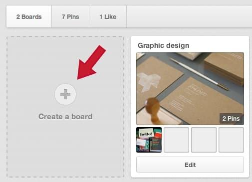 Adding a pinterest board