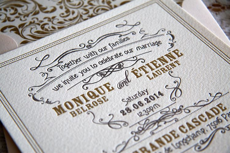 Paris Invitation - Wedding