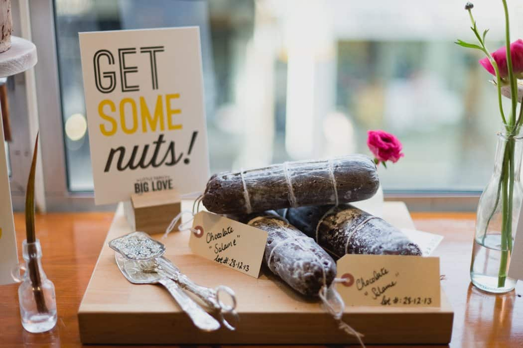 Get some nuts letterpress sign