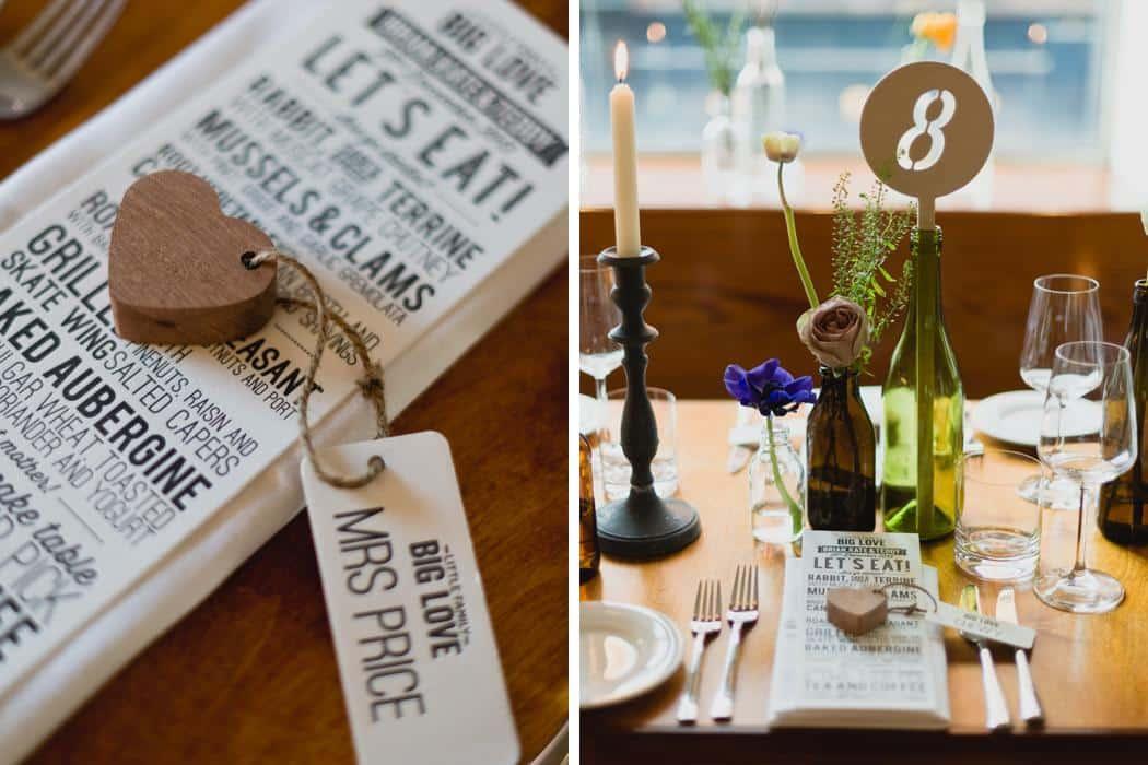 Table setting - Letterpress menu