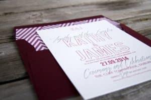 Letterpress wedding invitations | Cocktail wedding invite