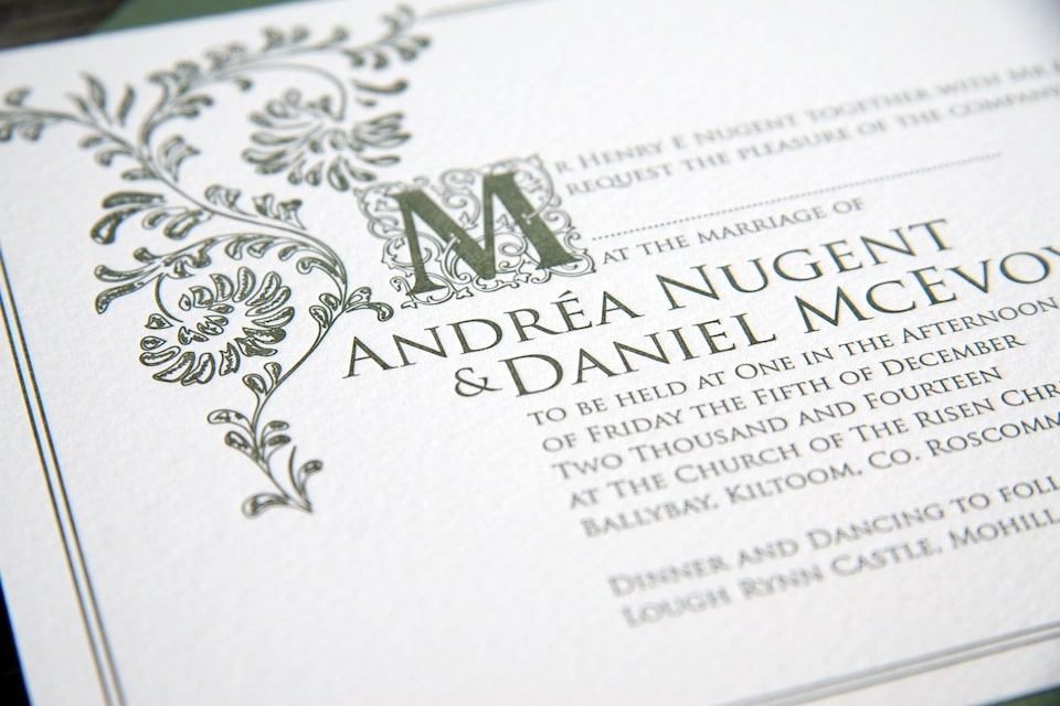 Old English - MAGVA Design + Letterpress