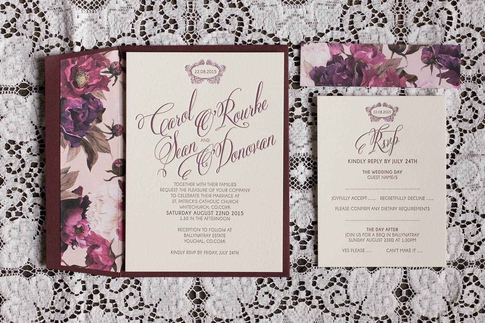 Carol & Sean Wedding Invitation Suite