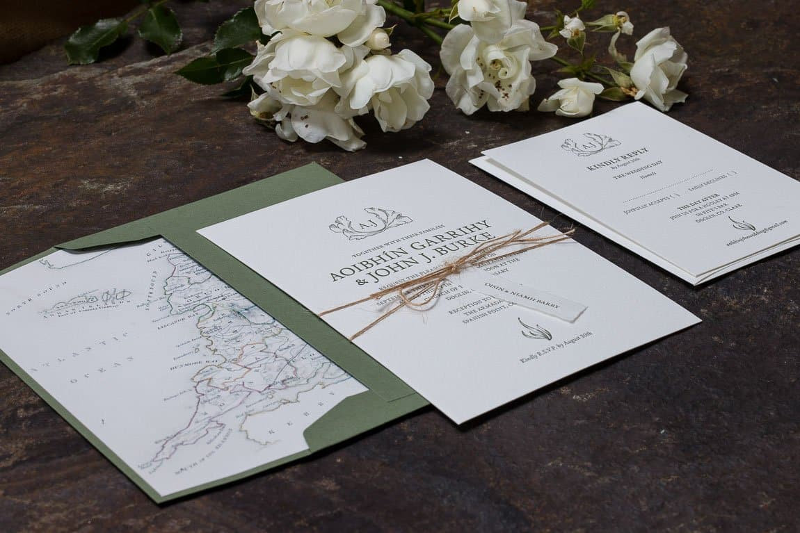 wedding invitation Aoibhin Garrihy John J Burke