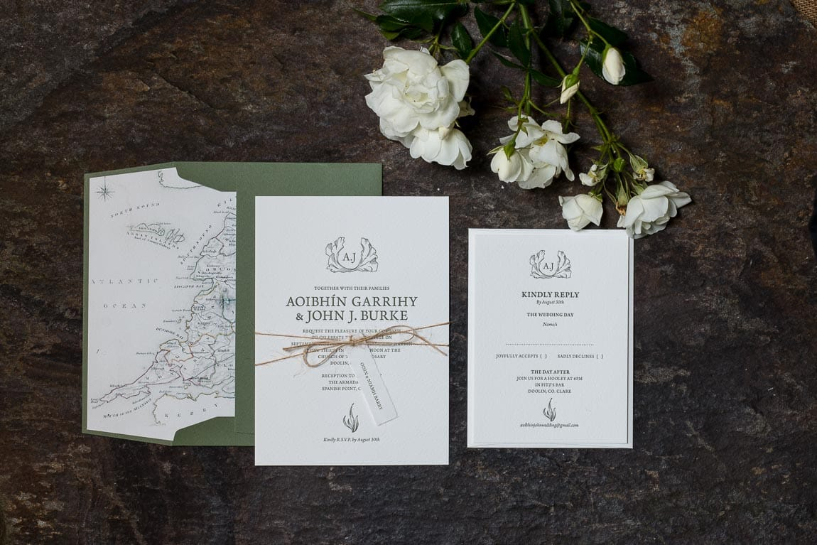 Letterpress Wedding Stationery Aoibhin Garrigy and John J Burke by MAGVA Design + Letterpress