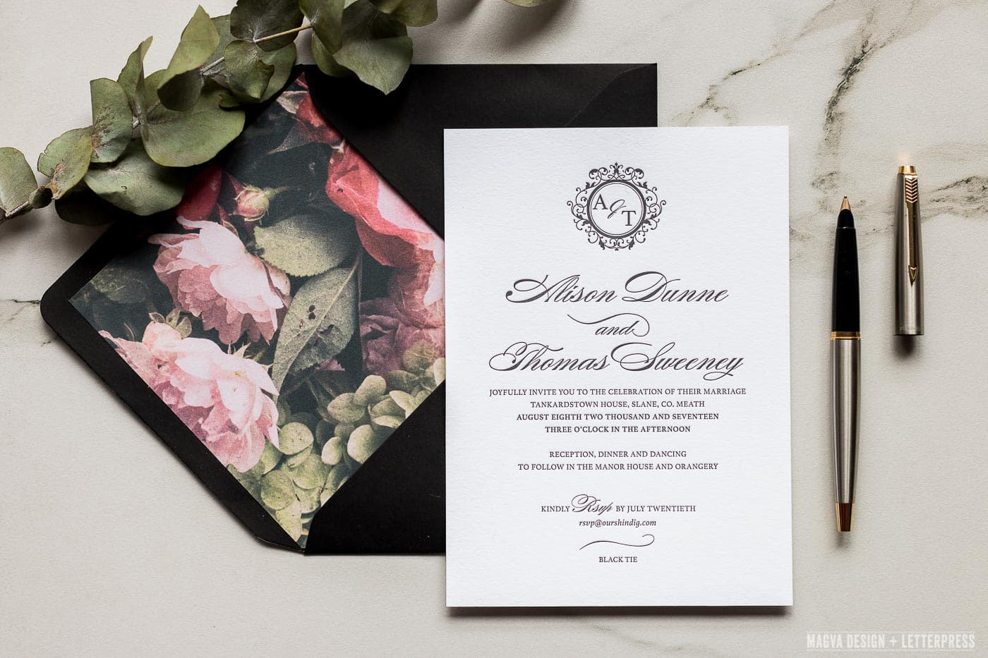 Black Tie - MAGVA Design + Letterpress