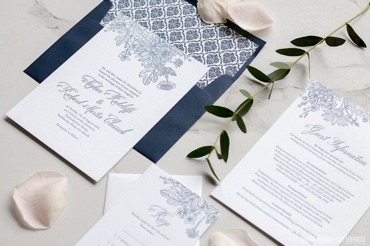 Floral Bloom MAGVA Design Letterpress
