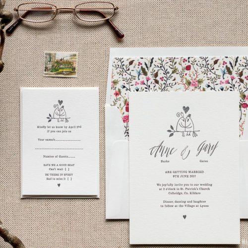 Love Birds Magva Design Letterpress