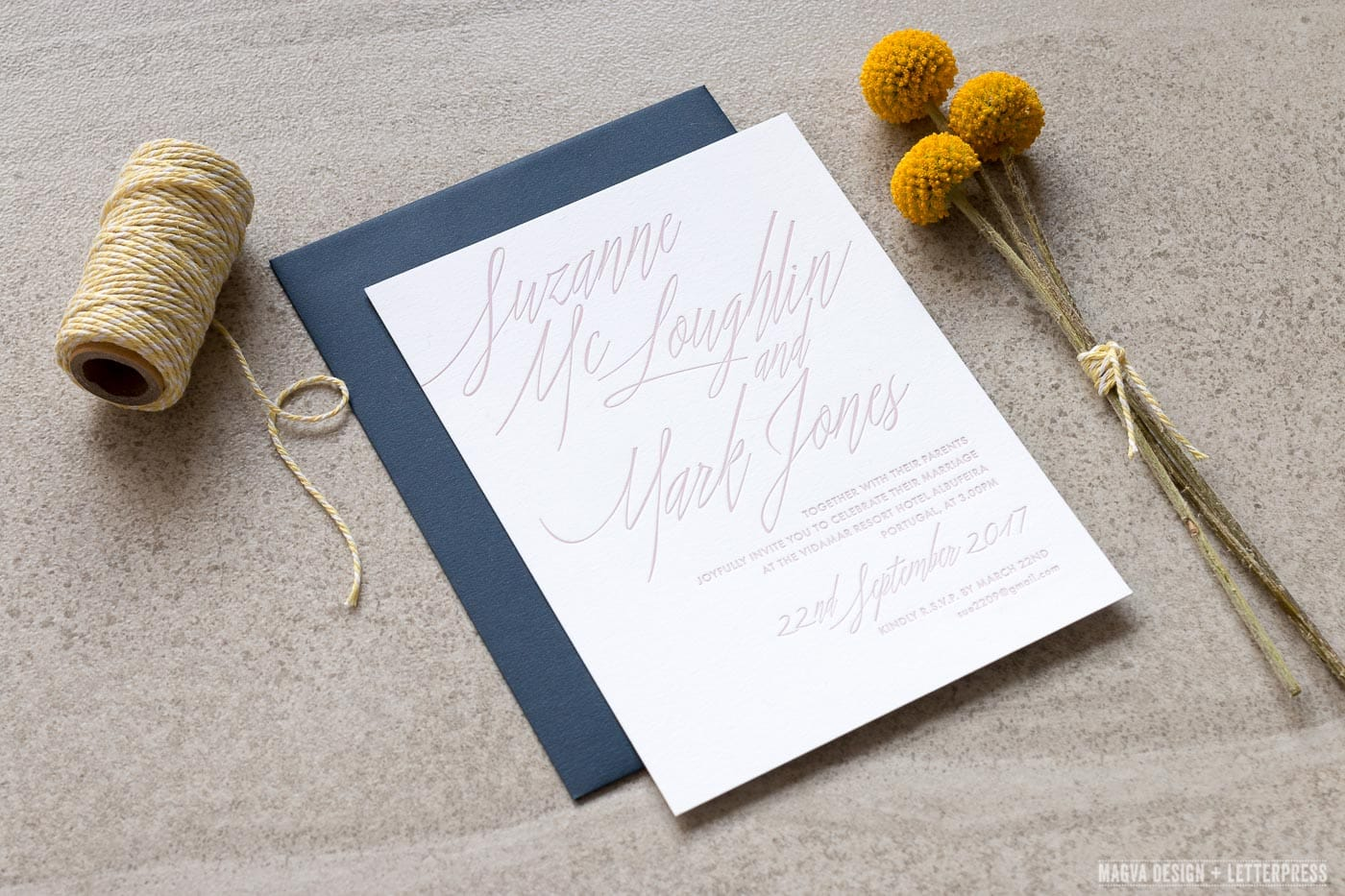 Tempest Wedding Invitation angle