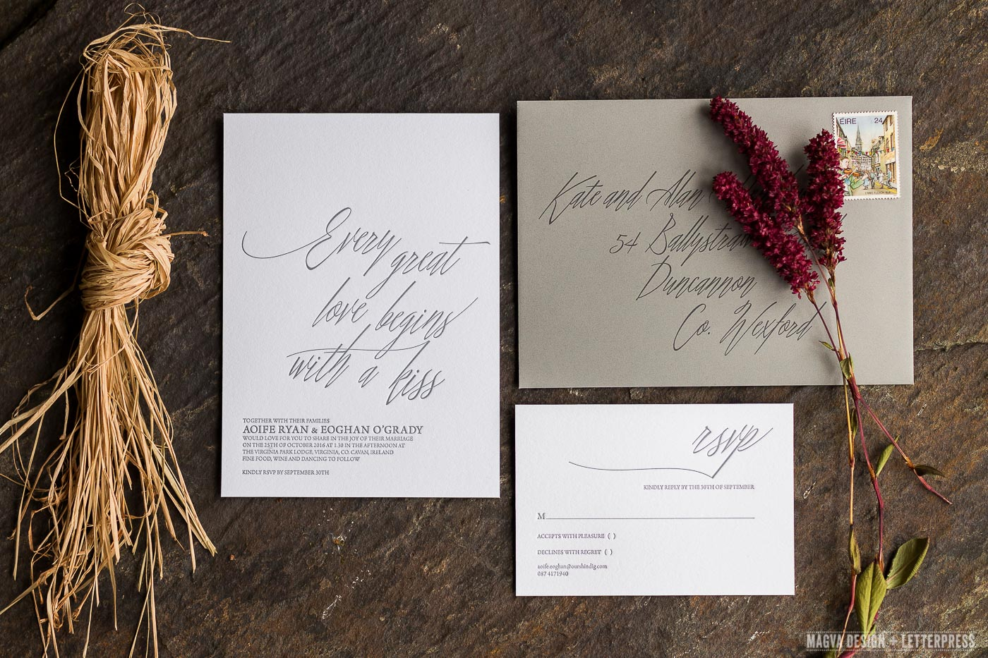 Irish Love Quotes Wedding Passione  Magva Design  Letterpress